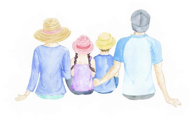 Focení rodin - objetí