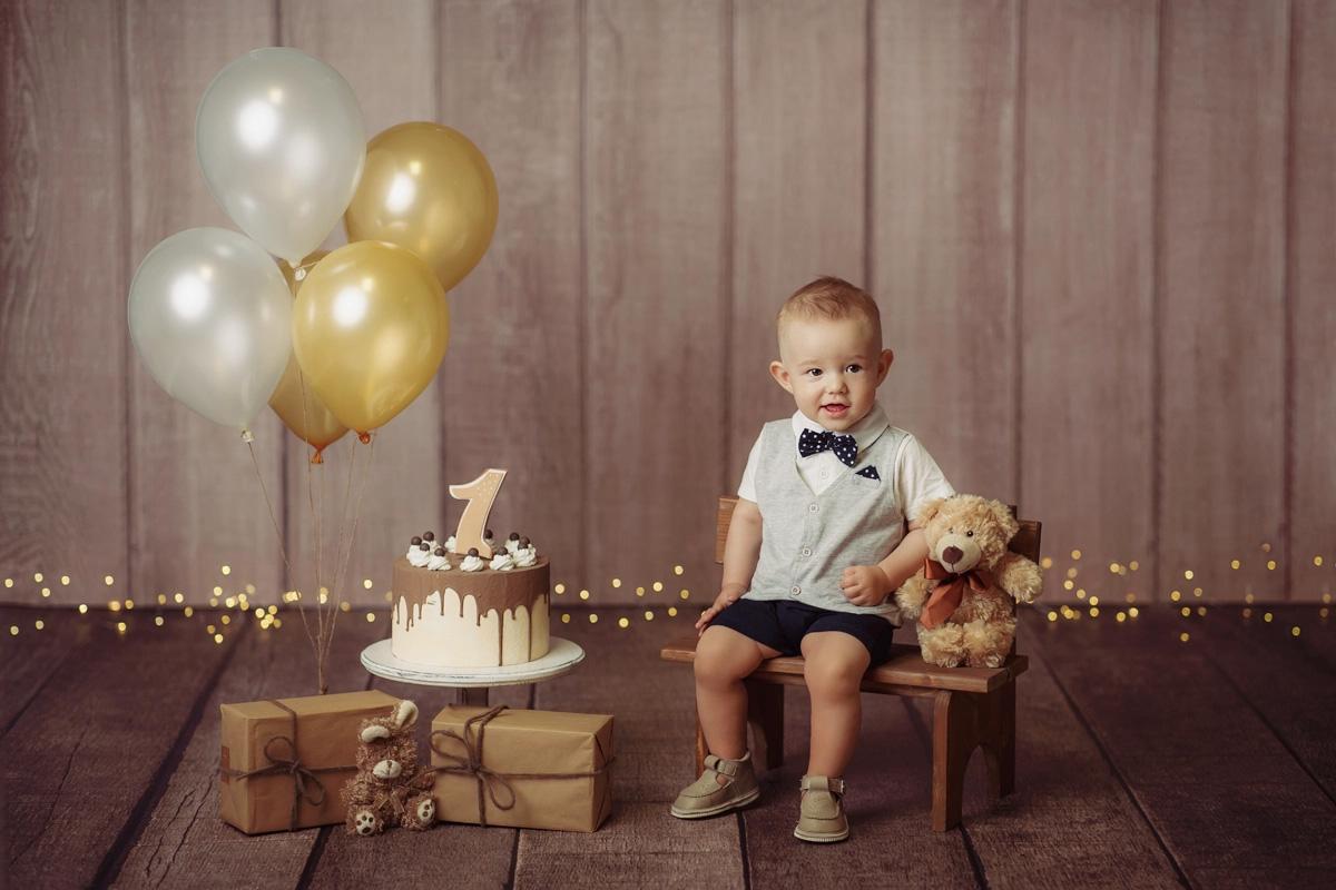 Narozeninové foto - retro balónky
