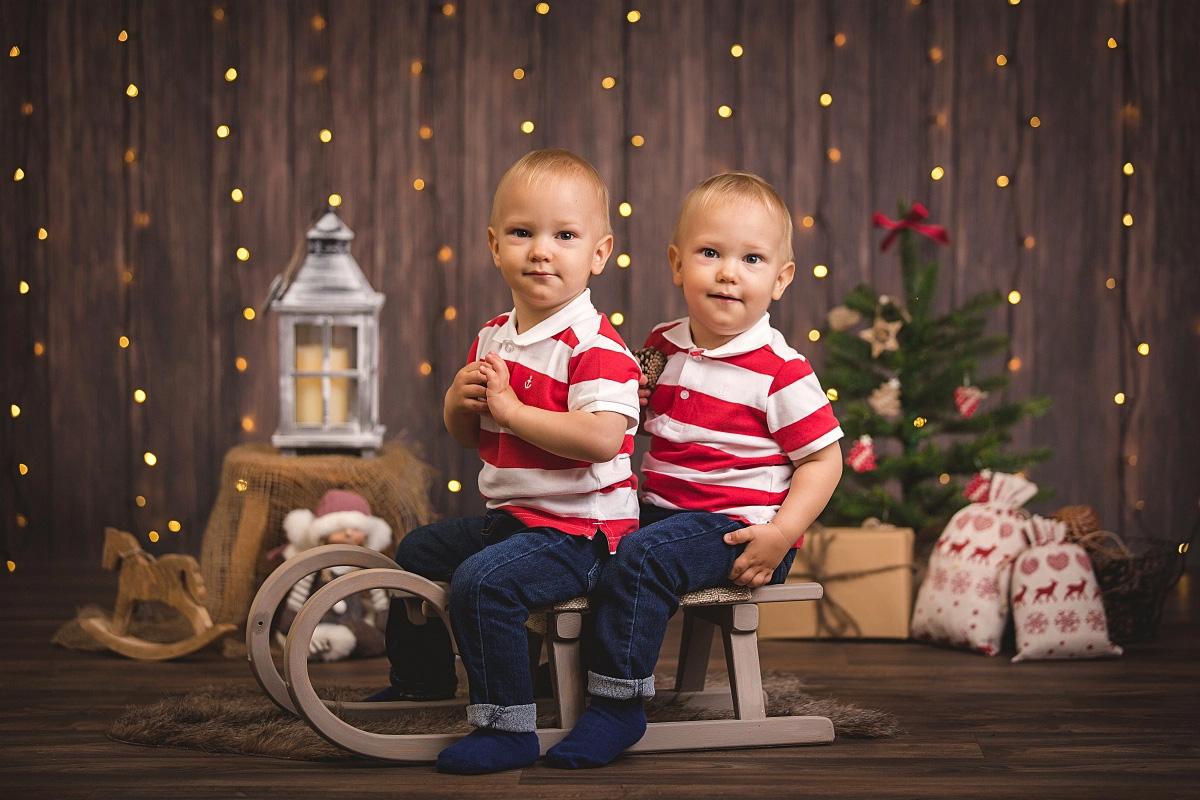 Vánoční sáňky - dvojčata