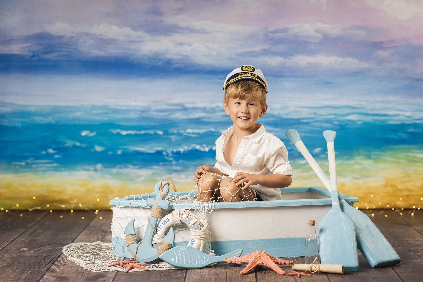 Focení dětí s lodičkou - titulka